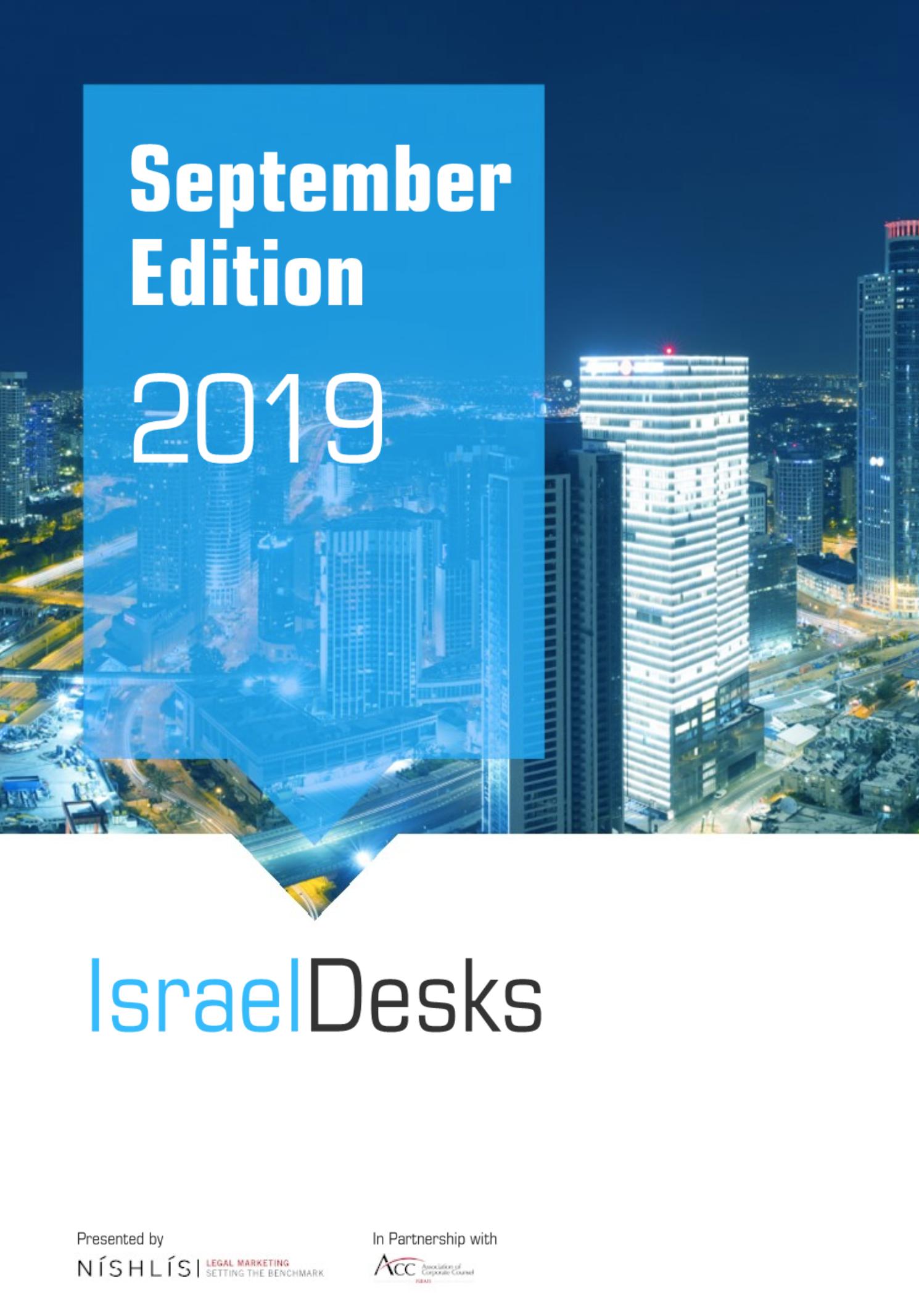 IsraelDesks Magazine – September 2019 Edition