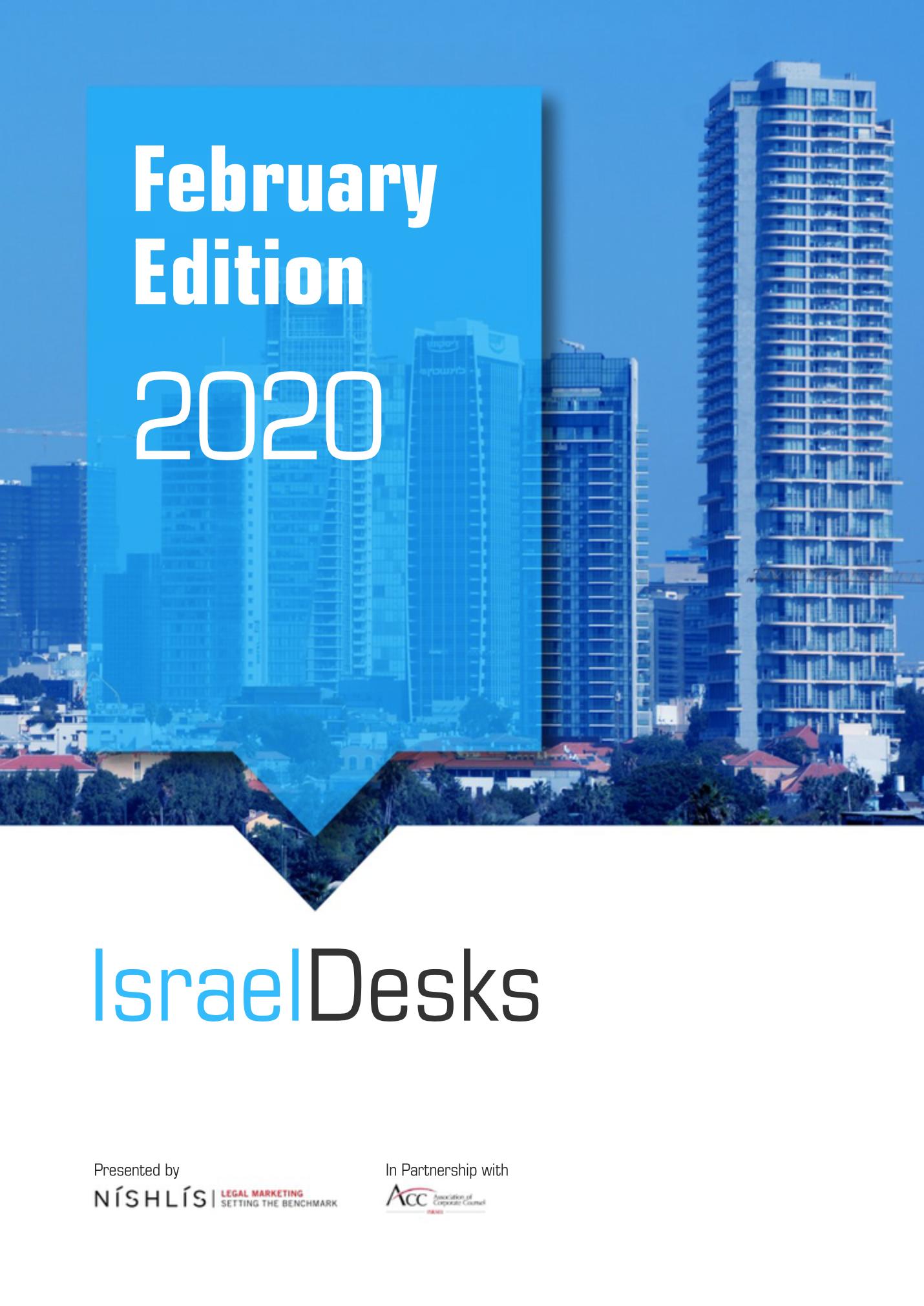 IsraelDesks Magazine February 2020 – USA, M&A and Cannabis